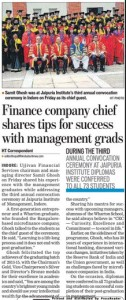 Finance company chief shares tips for success with management grads