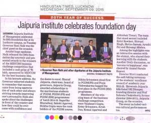 Jaipuria institute celebrates foundation day