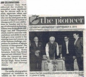 Jaipuria Institute of Management Celebrates 20 Years of Excellence