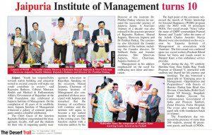 Jaipuria Institute of Management turns 10